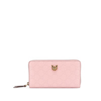 Gucci Gucci Signature Zip Around Wallet With Cat - Rosa