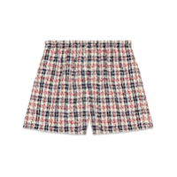 Gucci Short Xadrez De Tweed - Branco