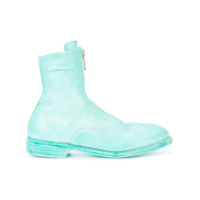 Guidi Front-Zipped Fitted Boots - Azul