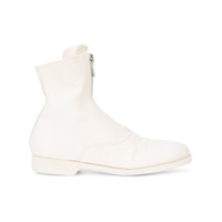 Guidi Front-Zipped Fitted Boots - Branco