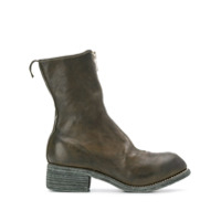 Guidi Zip Front Ankle Boots - Verde