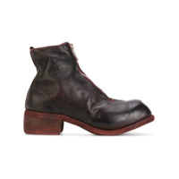 Guidi Zip Front Boots - Vermelho