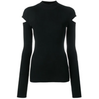 Helmut Lang Cut-Out Detail Sweater - Preto
