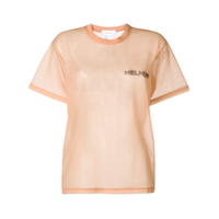 Helmut Lang In Lang With Trust Sheer T-Shirt - Neutro