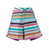 Henrik Vibskov Striped Wide Leg Shorts - Azul