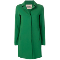 Herno Classic Single-Breasted Coat - Verde