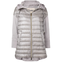 Herno Padded Front Hooded Jacket - Cinza