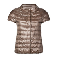 Herno Shortsleeved Padded Jacket - Marrom
