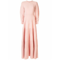 Huishan Zhang Audrey Feather-Trimmed Gown - Rosa