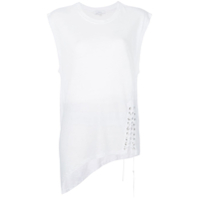 Iro Asymmetric Lace Detail Tank - Branco