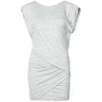 Iro Wrap Style Front Fitted Dress - Cinza