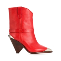 Isabel Marant Ankle Boot 'lamsy' De Couro - Vermelho