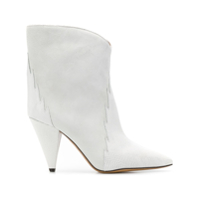 Isabel Marant Ankle Boot Texturizada - Branco