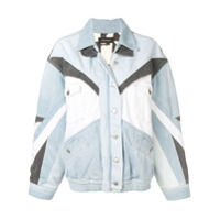 Isabel Marant Contrast Panel Denim Jacket - Azul
