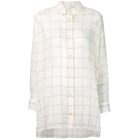 Isabel Marant Crinkle Check Shirt - Neutro