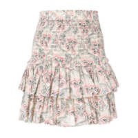 Isabel Marant Étoile Ruffle Tiered Mini Skirt - Neutro