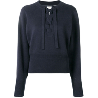 Isabel Marant Lace-Up Front Sweater - Azul