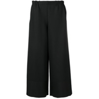 Issey Miyake Cropped Wide Leg Trousers - Preto