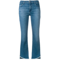 J Brand Cropped Slim-Fit Jeans - Azul