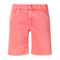 Jacob Cohen Short Com Patch De Logo - Rosa