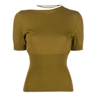 Jacquemus Blusa Cropped - Verde