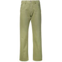 Jacquemus Cropped Straight-Leg Jeans - Green