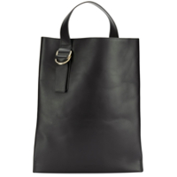 Jil Sander Navy Shopping Tote Bag - Preto
