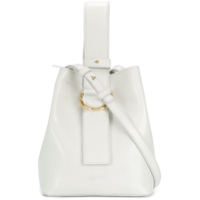 Jil Sander Navy Small Bucket Bag - Branco