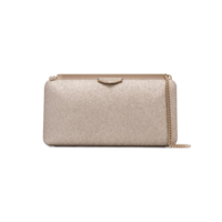 Jimmy Choo Dusty Glitter Ellipse Clutch Bag - Dourado
