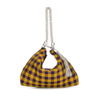 Jimmy Choo Clutch Xadrez Gingham - Amarelo