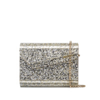 Jimmy Choo Candy Glitter-Effect Envelope Clutch - Metálico