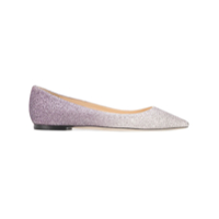 Jimmy Choo Romy Flat Ballerina Shoes - Roxo