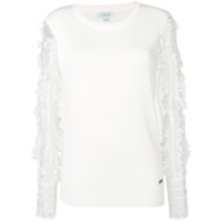 Jovonna Embroidered Sleeve Top - Branco