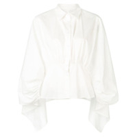 Jovonna Open Back Shirt - Branco