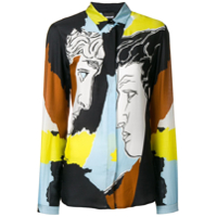 Just Cavalli Blusa Color Block - Preto