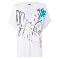Just Cavalli Camiseta Com Estampa De Logo - Branco