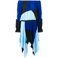 Just Cavalli Vestido Color Block - Azul
