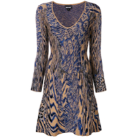 Just Cavalli Vestido Animal Print - Azul