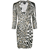 Just Cavalli Vestido Animal Print - Preto
