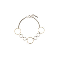 Justine Clenquet Lucy Two-Tone Choker - Metálico