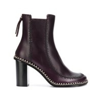 Jw Anderson Ankle Boot 'sacre Crown' De Couro - Roxo