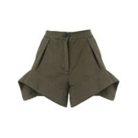 Jw Anderson Exploded Hem Shorts - Verde