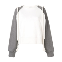 Jw Anderson Rope-Detail Hooded Sweater - Branco