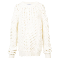 Jw Anderson Suéter Oversize Tricot - Branco