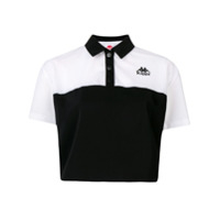 Kappa Camisa Polo Color Block - Preto