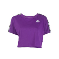 Kappa Logo Short-Sleeve Crop Top - Roxo