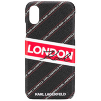 Karl Lagerfeld Capa 'london' Para Iphone X/xs - Preto