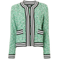 Karl Lagerfeld Cardigan With Bouclé Effect - Verde