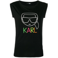 Karl Lagerfeld Karl Outline T-Shirt - Preto