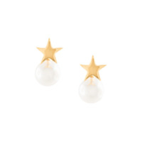 Kenneth Jay Lane Star Top Earrings - Dourado